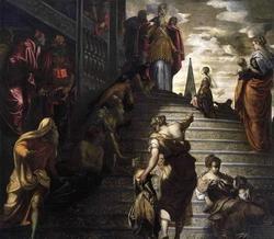 Введение во храм Пресвятой Девы (Якопо Тинторетто)