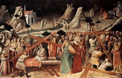 Фон четвертой фрески цикла Легенды св. Креста (Аньоло Гадди, 1394 г.)