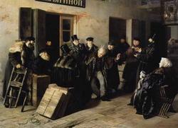 Шутники. Гостиный двор в Москве (И.М. Прянишников, 1865 г.)