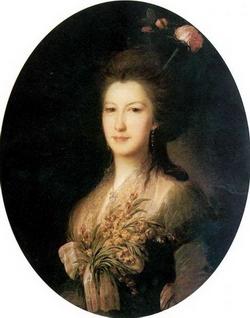 Портрет Е.В. Санти (Рокотов Ф.С., 1785 г.)