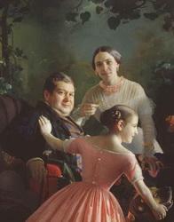 Портрет семьи Турчановых (Зарянко С.К., 1848)