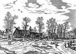 Пейзаж из серии, изданной в 1559 году (И. Брейгель-Старший)
