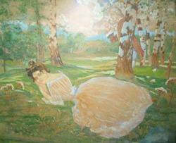 Отдых в лесу (К.А. Сомов, 1898)