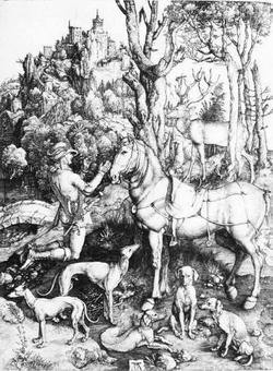 Святой Евстафий на охоте (А. Дюрер, около 1505 г.)