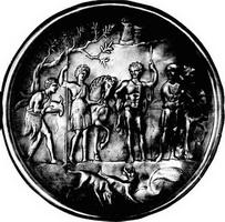 Мелеогр и Аталанта после охоты на зайцев