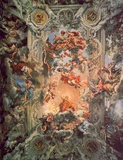 Плафон в Palazzo Pitti (Пьетро да Кортона)