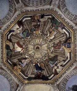 Плафон в сокровищнице собора Santa Casa в Лорето