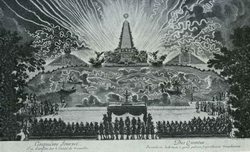 Фейерверк в Версале по случаю завоевания Франш-Конте