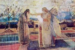 Архангел Гавриил поражает Захарию немотой (Иванов А.А., конец 1840-х — 1857 гг.)