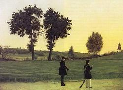 Пейзаж с охотниками (Щедроеский И.С.)