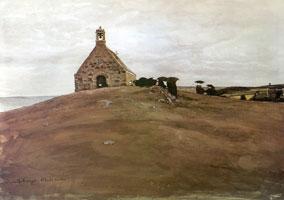 Служба у капеллы св. Варвары. 1905 г.