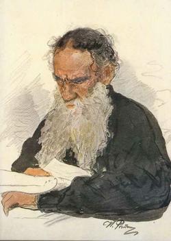Портрет Л.Н. Толстого (за чтением) (И.Е. Репин)