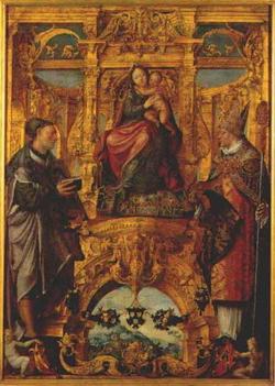 Богоматерь со святыми (Ланселот Блондэль)