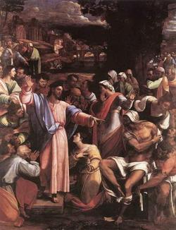 Воскрешение Лазаря (Себастиано дель Пиомбо, 1517-1519 г.)
