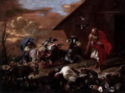 Ной созывает зверей (Б. Кастильоне)