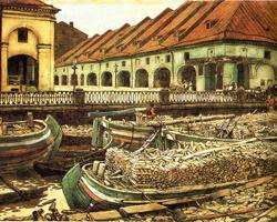 Никольский рынок в Петербурге (Е.Е. Лансере, 1901)