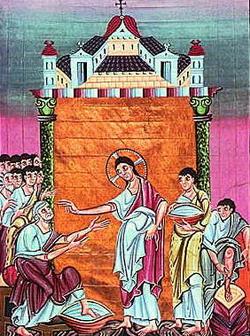 Омовение ног св. Петра (ок. 1000 г.)