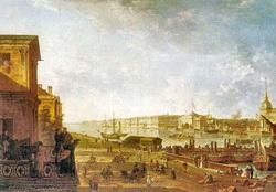Вид Адмилартейства и Зимнего дворца от 1-го Кадетского корпуса (Ф.Я. Алексеев)