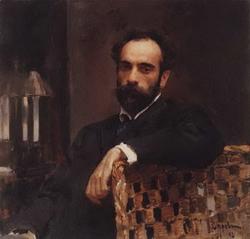 Портрет И.И. Левитана (Серов В.А., 1893)