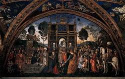 Святая Екатерина перед императором (Пинтуриккио)