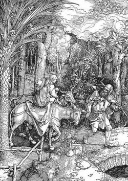 Бегство в Египет (Альбрехт Дюрер, около 1506 года)