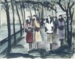 Таврический сад (О.Н. Гильдебрант, 1932 г.)