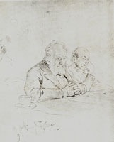 Н.Л. Бенуа и И.С. Китнер. На заседании в Академии художеств. (И.Е. Репин, 1891 г.)
