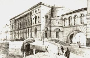 Набережная Невы и Эрмитажный театр. 1935 г.