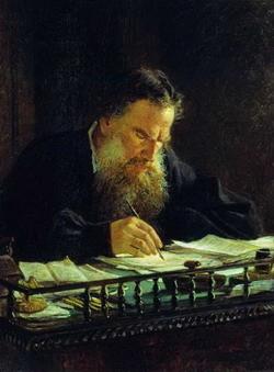 Портрет писателя Л.Н. Толстого (Ге Н.Н., 1884)