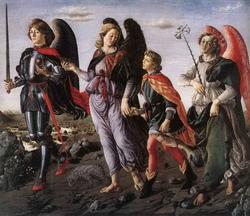 Сын Тови с тремя архангелами (Франческо Боттичини)