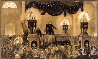 Германн у гроба графини. 1911 г.