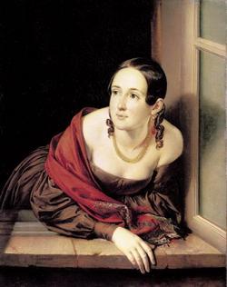 Женщина в окне (Казначейша) (В.А. Тропинин)