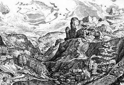 Альпийский пейзаж (П. Брейгель-Старший)