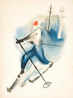 Лыжник (И.Д. Кулешов, 1929 г.)