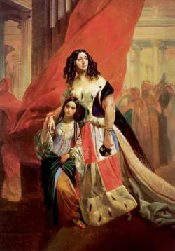 Графиня Ю.П. Самойлова с дочерью (К.П. Брюллов)