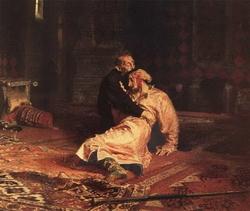 Иван Грозный и сьш его Иван 16 ноября 1581 года (Репин И.Е., 1885)