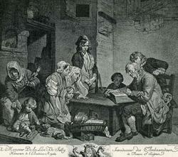 Отец семейства, читающий Библию (Ж.Б. Грез)