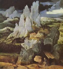 Св. Иероним в пустыне (Иоахим Патинир)