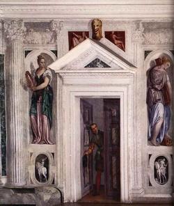 Trompe l'oeil в одной из зал виллы Барбарр-Джакомелли в Мазере