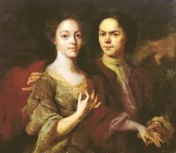 Автопортрет с женой (А. Матвеев)