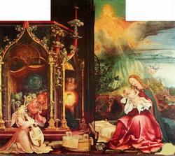 Мадонна, окруженная ангелами (Матиас Грюненвальд)