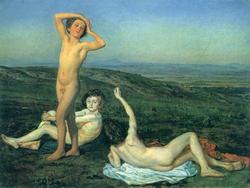 Пейзаж с тремя нагими мальчиками (Александр Иванов)