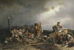 Привал арестантов (Якоби, 1861)