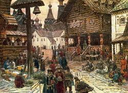 На крестце в Китай-городе (А.М. Васнецов, 1902)