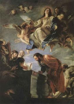 Взятие Богородицы на небо (А. Серецо)