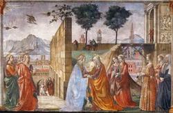 Часть фрески в капелле Торнабуони в церкви Санта мария Новелла во Флоренции