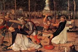 Убиение святого Петра Доминиканца (Школа Джованни Беллини)
