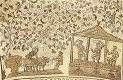 Мозаика в своде церкви св. Констанцы в Риме (фрагмент, 4 век)