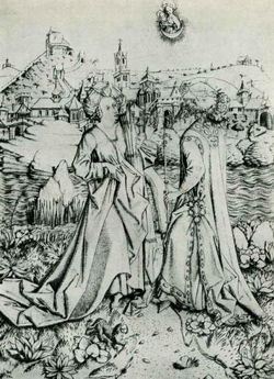 Мастер E.S Сивилла и император Август (сер. XV в.)