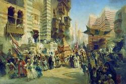 Возвращение священного Ковра из Мекки в Каир (К. Маковский)